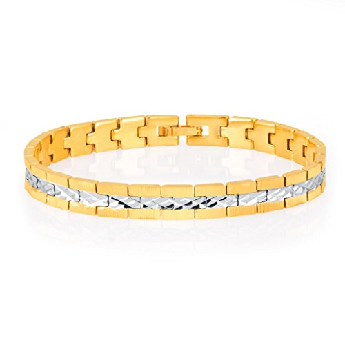 Sukkhi Delightly Gold And Rhodium Plated Bracelet for Men