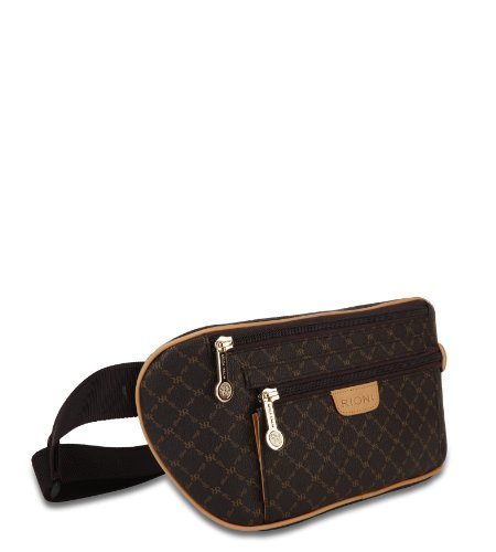 Rioni Womens Traveler's Waist Pouch - Signature Brown by Rioni