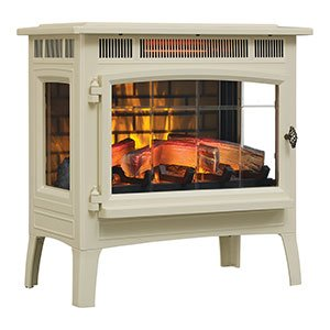 Duraflame 3D Infrared Electric Fireplace Stove with Remote Control - DFI-5010 (White Fireplace Heater)