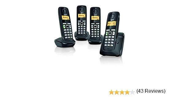 Gigaset A220 a Quattro Negro con a partir de (Modelo Especial): Amazon.es: Electrónica