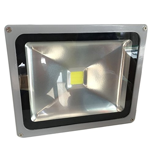 Soberbar High Brightness LED Flood Light IP67 85-265V Outdoor Garden Security Lighting Garden Waterproof Security Lighting Square Floodlight US Plug by Soberbar (Image #4)