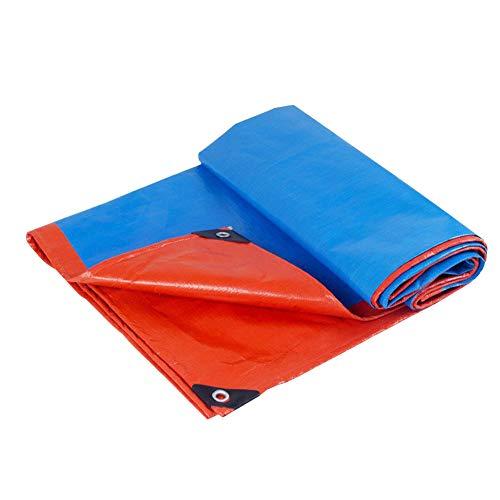 投票マニアCHAOXIANG ターポリン サンシェード 雨をカバーする 風 防雨 厚い 耐摩耗性 PE 厚さ0.30mm、 19サイズ カスタマイズ可能な (色 : Blue orange, サイズ さいず : 7.8x7.8m)
