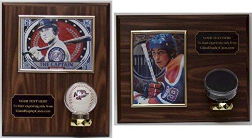 Hockey Puck 5X7 Photo Display Case Wall Plaque ()