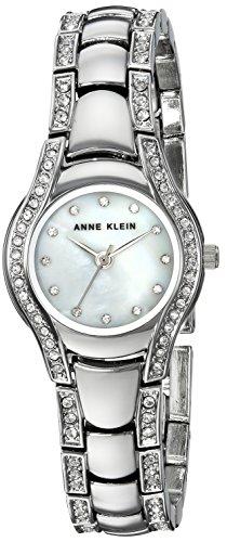 Anne Klein Women's AK/2885MPSV Swarovski Crystal Accented Silver-Tone Bracelet Watch