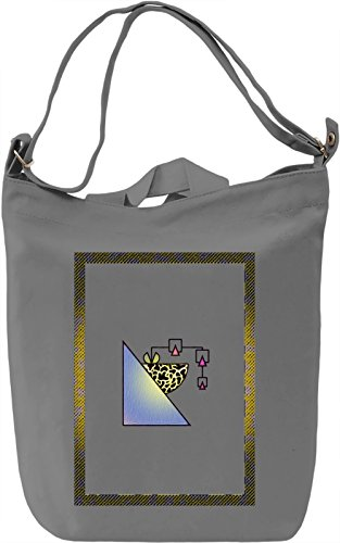 Vivid 90's Geometry Borsa Giornaliera Canvas Canvas Day Bag  100% Premium Cotton Canvas  DTG Printing 