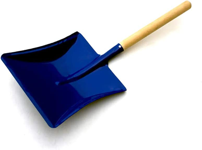Traditional Metal Dustpan with Wooden Handle