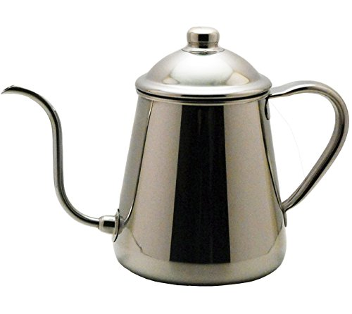 Silver Tomato Server (Takahiro Coffee Drip Pot 0.9l Shizuku (Japan Import))