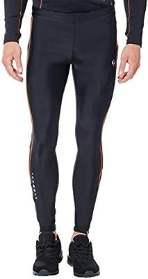 L Ultrasport Pantaloni Ciclista da Uomo con Funzione Quick Dry Nero//Paloma Grigio