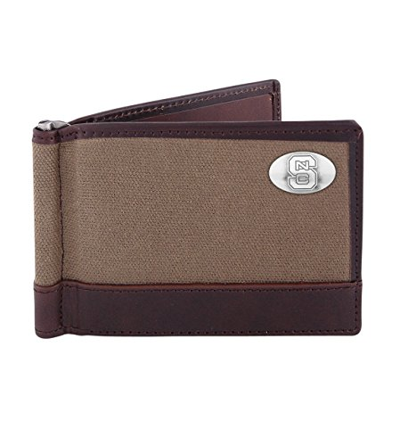 (ZEP-PRO NCAA North Carolina State Wolfpack Canvas Leather Concho Razor Wallet,)