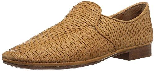 Frye Women's Ashley Woven Slip Loafer Flat Tan LarHAt3r0