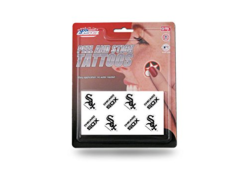 Rico MLB Chicago White Sox Tattoo Set (8 (Sox Tattoo)