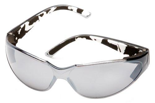 Body Glove 90215 V-Line High Impact Safety Glasses, Black Frame, Smoke Mirror - Com Frames Eyeglass