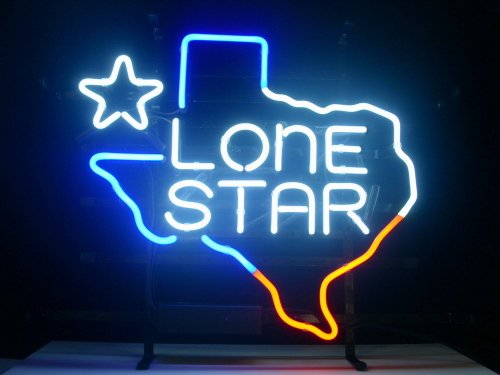 New Texas Lone Star Real Glass Neon Light Sign Beer Bar Pub Sign -