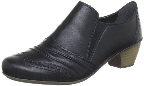Rieker 41763 - Zapatillas de casa de cuero mujer negro - Schwarz (schwarz 00)