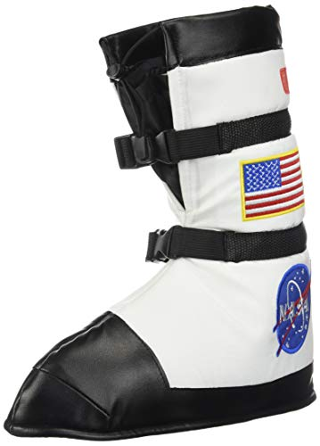 Aeromax Astronaut Boots, Size Medium, White, with NASA patches -