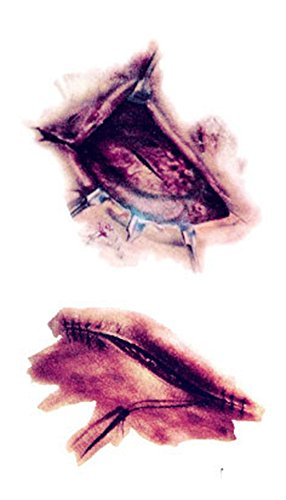 (elegantstunning Horrifying Realistic Scar Tattoo Paste Halloween Decorations)