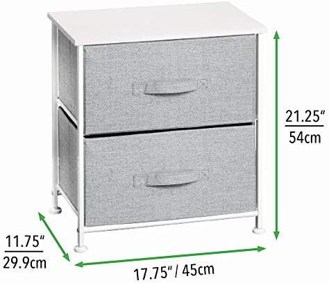 baby products, nursery, furniture, changing, dressing,  chests, dressers 9 on sale mDesign Short Vertical Dresser Storage Tower - Sturdy Steel in USA