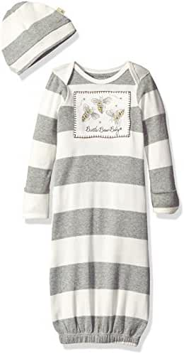 Burt's Bees Baby - Set of 2 Gowns + 2 Caps, 100% Organic Cotton