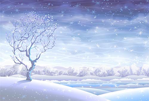 CSFOTO 5x3ft Background for Fantasy Snowing Night Winter