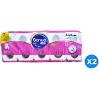 Sanita Pack of 20 Club Decorated and Embossed Toilet Tissue Roll - White