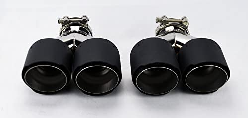 Dual 4 Quad Staggered Carbon Fiber Exhaust Tips for Audi S5 2008-2016