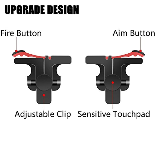 Mobile Game Controller [Upgrade Version] - WeeDee Fortnite PUBG Mobile Controller with Gaming Trigger,Gaming Grip and Gaming Joysticks for 4.5-6.5inch Android iOS Phone by WeeDee (Image #2)