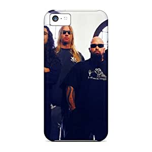 Anti-Scratch Hard Phone Cover For Iphone 5c (qQO9562uCJs) Customized Vivid Korn Band Skin