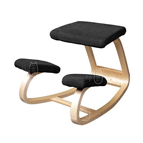 Emall-Life-Ergonomic-Kneeling-Chair-Balancing-Body-Back-Pain-Wooden-Chair-Bentwood-Comfortable-BlueRedGreenBlack