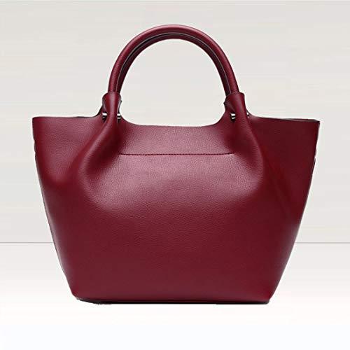 Pour Houyazhan Red Red color En Bandoulière Cuir Femme Sac Véritable Wine Hobo À xPPIfC