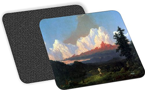 Rikki Knight Frederick Edwin Church Art in Memory of Cole Design-Soft Square Beer Coasters (Set of 2), Multicolor