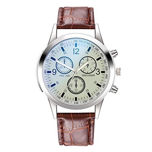 Mens Quartz Watch,Hengshikeji Roman NumeralPopular Low-Key Minimalist Connotation Leather Men's Quartz Wristwatch Business Retro Design Leather Band Waterproof Bracelet Watches