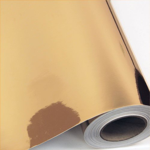 Gold Chrome Vinyl Adhesive 12'' by 15 ft Gold Mirror Adhesive Vinyl Roll - for Cricut, Silhouette Cameo, Craft Vinyl Cutters, and Die Cutters | StyleTech by Turner Moore (Gold Chrome) by StyleTech - Turner Moore Edition