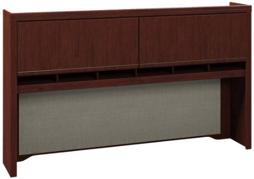 Bush Tall Hutch, 72-Inch by 12-Inch by 42-Inch, Harvest Cherry -