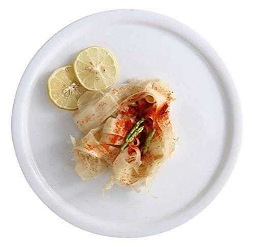 Ceramic cake flat plate round home snack dish Western steak dish pasta dish restaurant cold dish set plate 12 inches white
