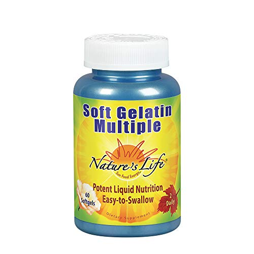 Nature's Life Soft Gelatin Multiple | Complete Daily Multivitamin & Mineral Supplement with Iron | 60 Easy-to-Swallow Softgels | 30-Day Supply