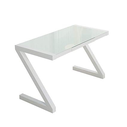 Mesa lateral de vidrio templado escritorio de la computadora ...