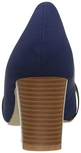 Brinley Co. Womens Mid Heel Vintage Loafer Pumps Navy FRsrH32xRR