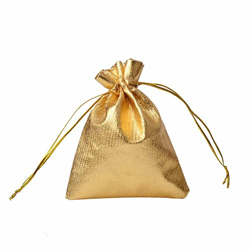 ZTL 100PCS Drawstring Candy Bag Gift Jewelry Pouch Wedding F