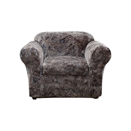 sh Tye-Dye 2-Piece - Chair Slipcover  - Gray (SF44643) (Dye Slip)