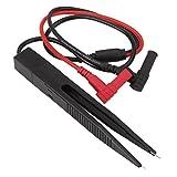 Tinksky Multimeter SMD Test Clip Anti-slip Meter Probe Tweezer for Capacitor Resistor
