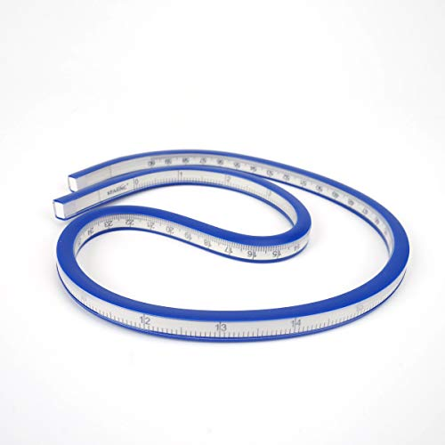 H88 24 Inch (60cm) Flexible Curve Ruler Flex Design Rule, Ideal for use: Engineering Drawing, Design Graphics, Garment Design, Technical Drafting Drawing,all kinds of painting