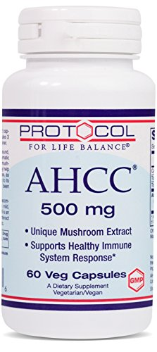 Protocol For Life Balance - AHCC 500 mg - Mushroom Extract to Support Healthy Immune System Response, Rich in Antioxidants, Helps Cardiovascular System Health, - 60 Veg Capsules by Protocol For Life Balance