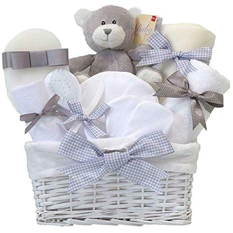 Shimmer - mimbre cesta de regalo para bebé Unisex/bebé cesta/Baby Shower regalos/Nueva llegada regalo/maternidad/de regalo Unisex Bebé Cesta/regalo para ...