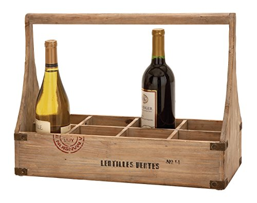 Deco 79 Wooden Wine Basket For Sale