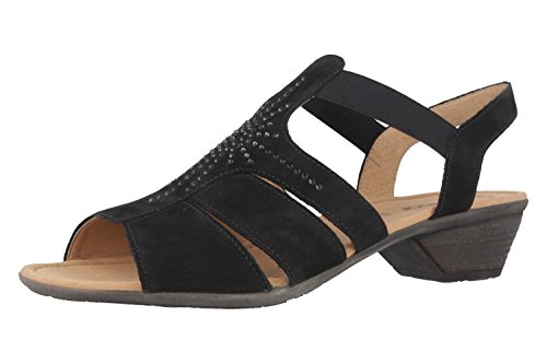 Sandals Big Gabor Large Women's Black Shoes Heeled High AqBITXB6