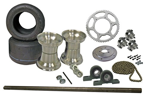 Find Bargain Drift Trike Kit with Tires & Rims (#40 Chain), 40″ Axle w/Pillow Block Bearings