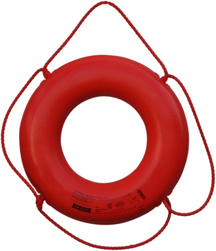 Cal June USCG Approved No Strap Ring (20- Inch, Diameter Orange) ()