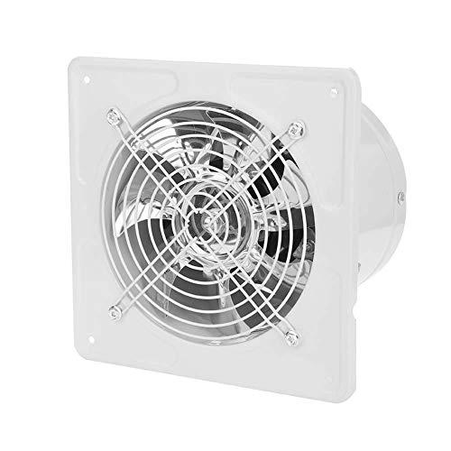 Acogedor 6 inch Exhaust Fan 40W 220V Wall Mounted Window Fan,Super Silent, Strong Exhaust, Home Bathroom Kitchen Garage Air Vent Ventilation(White) (Ventilation Fans Kitchen)