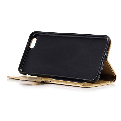 Slots Leather PU Cover Senior Leather Apple Stand Retro Plus iPhone Card Series BONROY Function Cover Protective Elegant and 6 for Wallet Wallet Case Plus Flip Case 6S Case With Gold 6 iPhone Case iPhone fvw4Z6Eqw