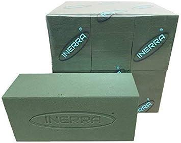 Pack of 6 INERRA Bricks pour Frais Fleur Pr/ésentation et Arrangements Inerra Humide Floral Mousse Brique Vert